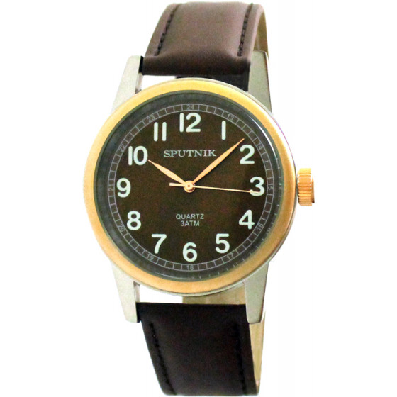 Мужские наручные часы Спутник М-858030/6 (корич.)