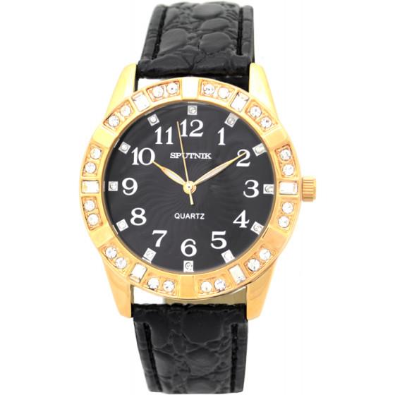 Наручные часы Спутник Л-300540/8 (черн.) ч.р.