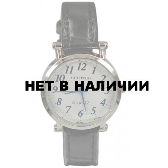 Женские наручные часы Спутник Л-200660/1 (бел.,син.оф.) ч.р.