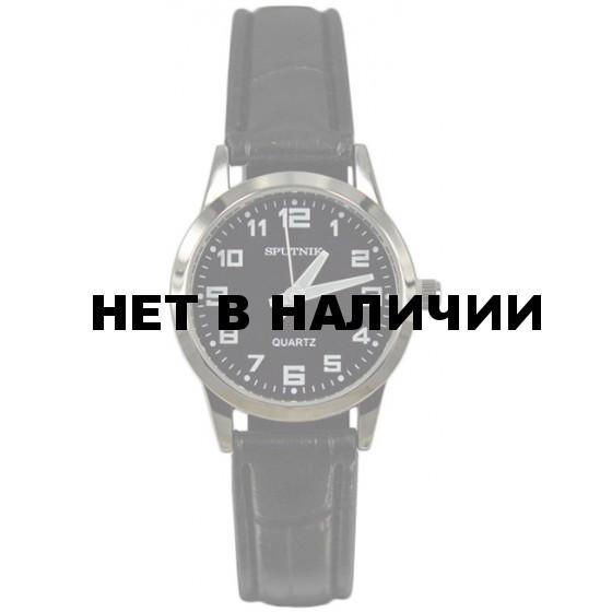 Женские наручные часы Спутник Л-200920/1 (черн.) ч.р.