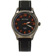 Мужские наручные часы Спутник М-858360/1 (черн.,оранж.оф.)