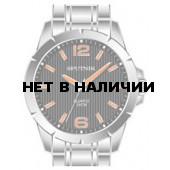 Мужские наручные часы Спутник М-996493/1 (черн.,оранж.оф.)