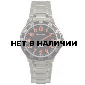 Мужские наручные часы Спутник М-996760/1 (черн.,оранж.оф.)