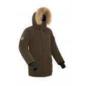 Куртка пуховая мужская BASK ALKOR коричневая