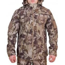Куртка с капюшоном МПА-26-01 (ткань софтшелл), камуфляж питон скала