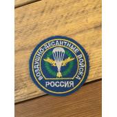 Нашивка на рукав Россия Воздушно-десантные войска голубая люрекс