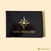 Обложка МЧС КУ-4 шик черная