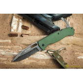 Нож Ute 440C Stonewash Green G10 handle зеленый
