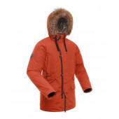 Куртка пуховая мужская BASK MERIDIAN темно-оранжевая