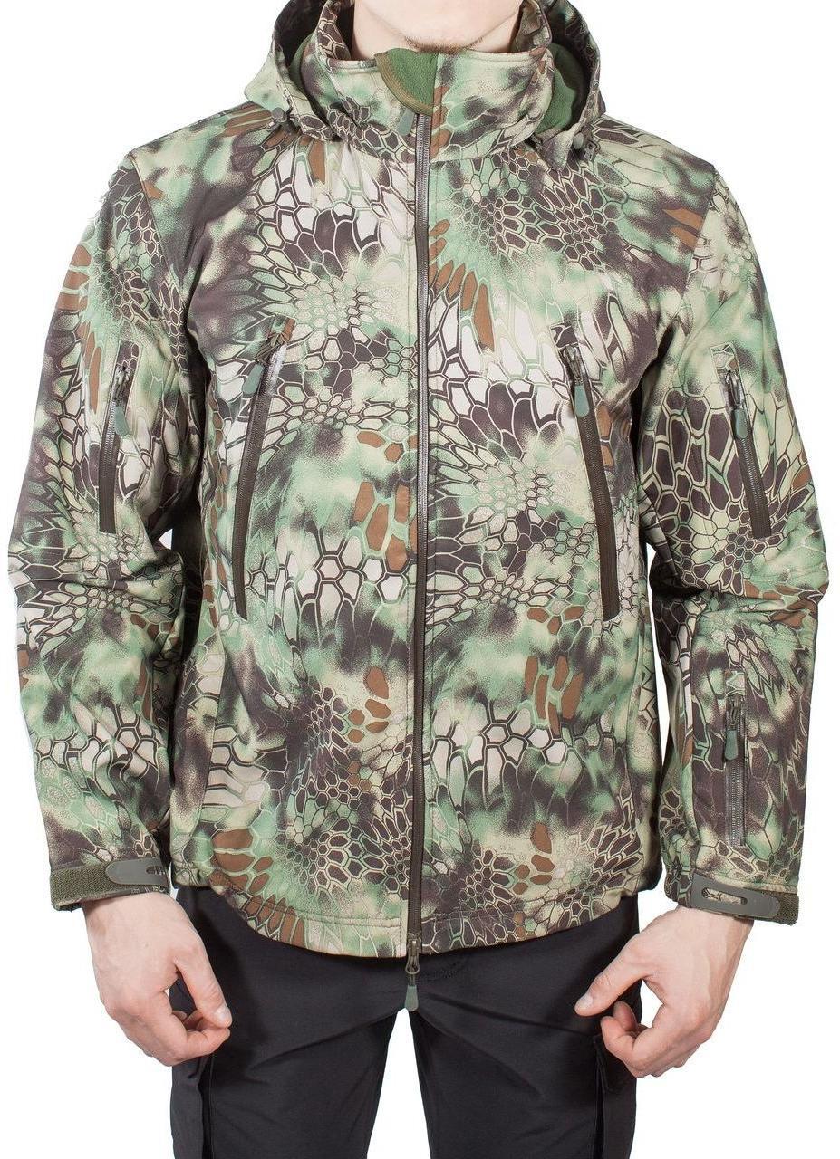 Куртка с капюшоном МПА-26 (ткань софтшелл), камуфляж питон лес ... 5d43ca5ef92