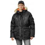 Куртка зимняя АЛЯСКА удлиненная цвет: черный