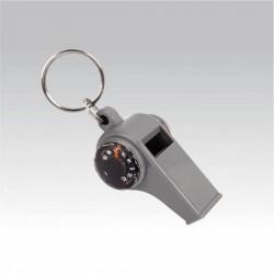 Брелок Свисток с компасом и термометром (упак=10 шт), 3339
