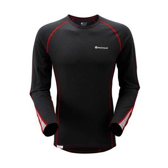 Футболка мужская BIONIC L/S T-SHIRT,XL black/red, MBLSTBLAX0