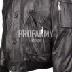 Куртка черная из натуральной кожи Flonap Black 7166 натуральный мех.