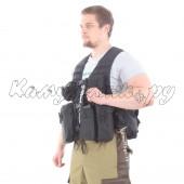 Жилет KE Скорпион с патрульными подсумками черный