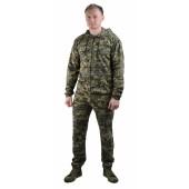 Костюм трикотажный ТИР-3 серо-зеленая цифра (куртка + брюки 100%х/б)