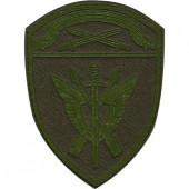 Нашивка на рукав с липучкой Росгвардия Северо-Западного округа СОБР полевая фон оливковый пластик