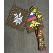 Комплект нашивок Военный учебный центр НИУ МГСУ нового образца (с петлицами) красный кант с липучками