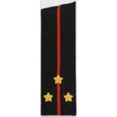 Погоны Береговые части ВМФ вышитые Старший лейтенант повседневные со скосом на китель