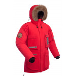Мужская пуховая куртка парка BASK YAMAL красная