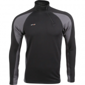Термобелье футболка L/S Active Polartec Power Grid черный/серый