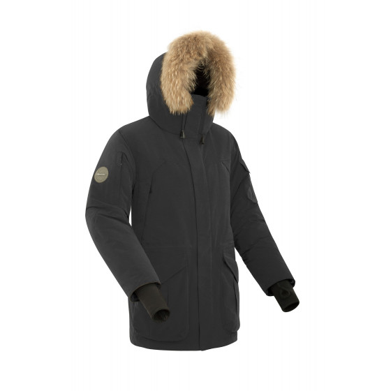 Куртка пуховая мужская BASK ALKOR черная
