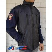 Куртка Полиция флисовая НОВОГО ОБРАЗЦА с шевронами