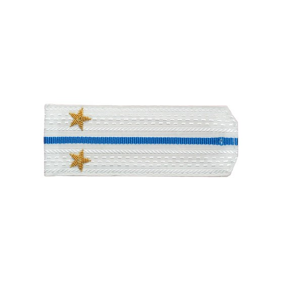 Погоны Авиация ВМФ вышитые Лейтенант парадные на белую рубашку