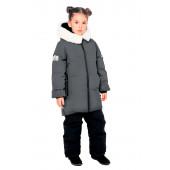 Куртка пуховая BASK kids для девочки TITANIA серый тмн