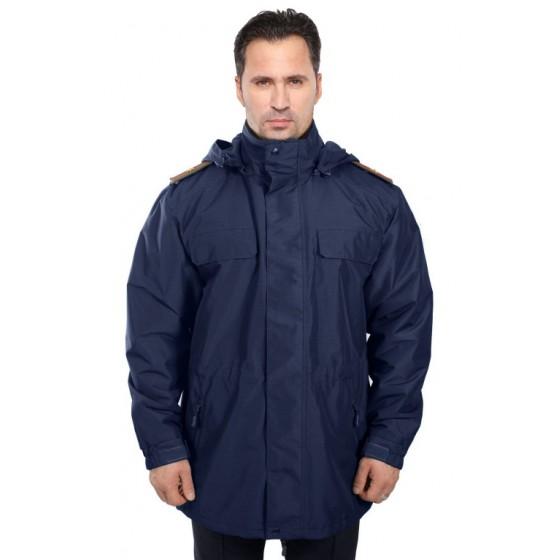 Куртка демисезонная под офисную форму ВВС-ВДВ воротник на стойке (рип-стоп/синяя)