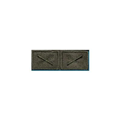 Эмблема петличная ПВО нового образца полевая вышивка шёлк
