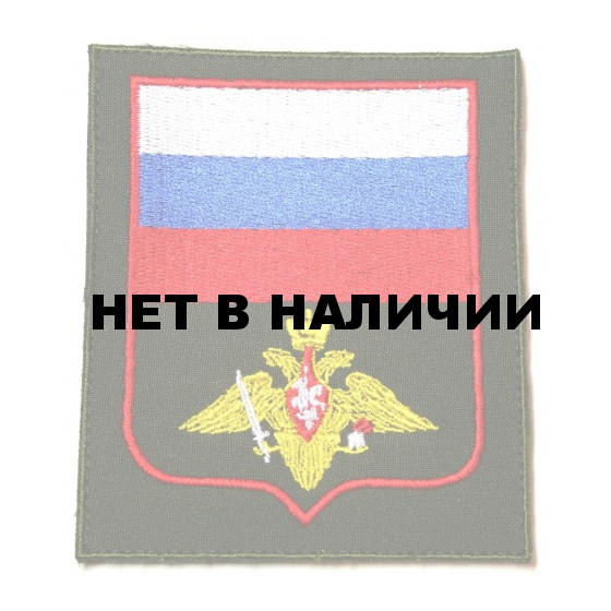 Нашивка на рукав с липучкой ВС пр 300 Сухопутные войска оливковый фон пластик