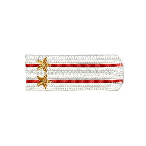 Погоны Береговые части ВМФ вышитые Подполковник парадные на белую рубашку