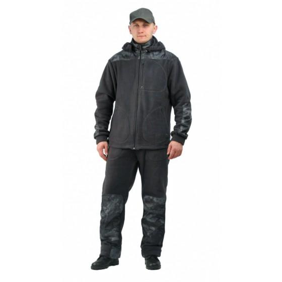 """Флисовый мужской костюм """"Gerkon Picnic-2"""" цвет Серый с накладками"""