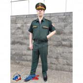 Костюм РОСГВАРДИЯ офисный, короткий рукав, сосна габардин