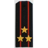 Погоны Береговые части ВМФ вышитые Полковник повседневные трапеция
