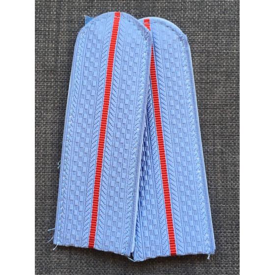 Погоны Полиция с 1 просветом на голубую рубашку женские (13 см)