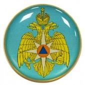 Миниатюрный знак МЧС орел ос металл