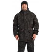 Костюм мужской ГОРКА-М куртка/брюки, цвет:, камуфляж Черный, ткань Рип-стоп