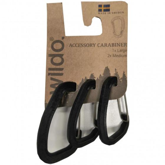 Карабины для аксессуаров в наборе ACCESSORY CARABINER 3-SET от WILDO® BLACK, 89611