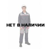 Костюм мужской Фаворит-2 летний с полукомбинезоном темно-серый/светло-серый/красный