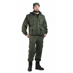 Костюм КОММАНДО ТРАНСФОРМ куртка/брюки, цвет: Олива, ткань Хлопок