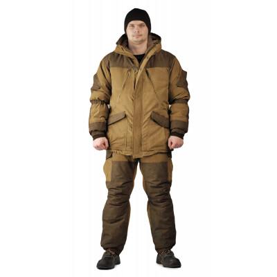 Костюм зимний ГРАСК куртка/полукомбинезон цвет: светло-коричневый/темно-коричневый, ткань : Канада