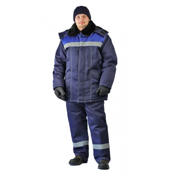 Костюм утеплённый Вьюга куртка/полукомбинезон, Т.синий/василёк