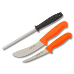 12098 Нож Morakniv Hunting Set Orange 2 ножа + точил камень,