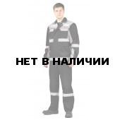 Костюм РЕСПЕКТ куртка/полукомб. цвет: ЧЕРНЫЙ/СВ.СЕРЫЙ