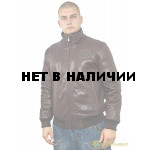 Куртка кожаная меховая 7172 Emora Brown
