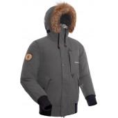 Куртка пуховая мужская BASK TOBOL серая тмн