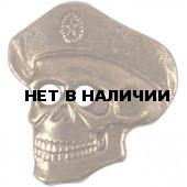 Нагрудный знак Череп в берете металл