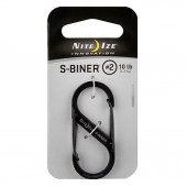 Карабин металлический S-Biner NiteIze, размер 2, чёрный